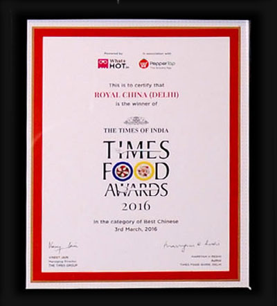 Royal china chinese restaurants in nehru place south delhi delhi times food awards in the category of best chinese 2016 stopboris Image collections