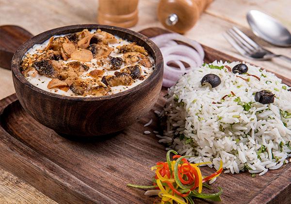 Mushroom in Garlic Butter Rice Plater