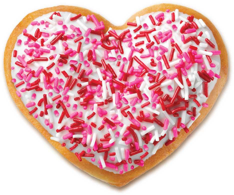 Heart doughnut