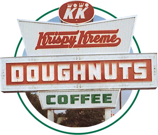 Krispy Kreme Doughnuts Coffee Sign