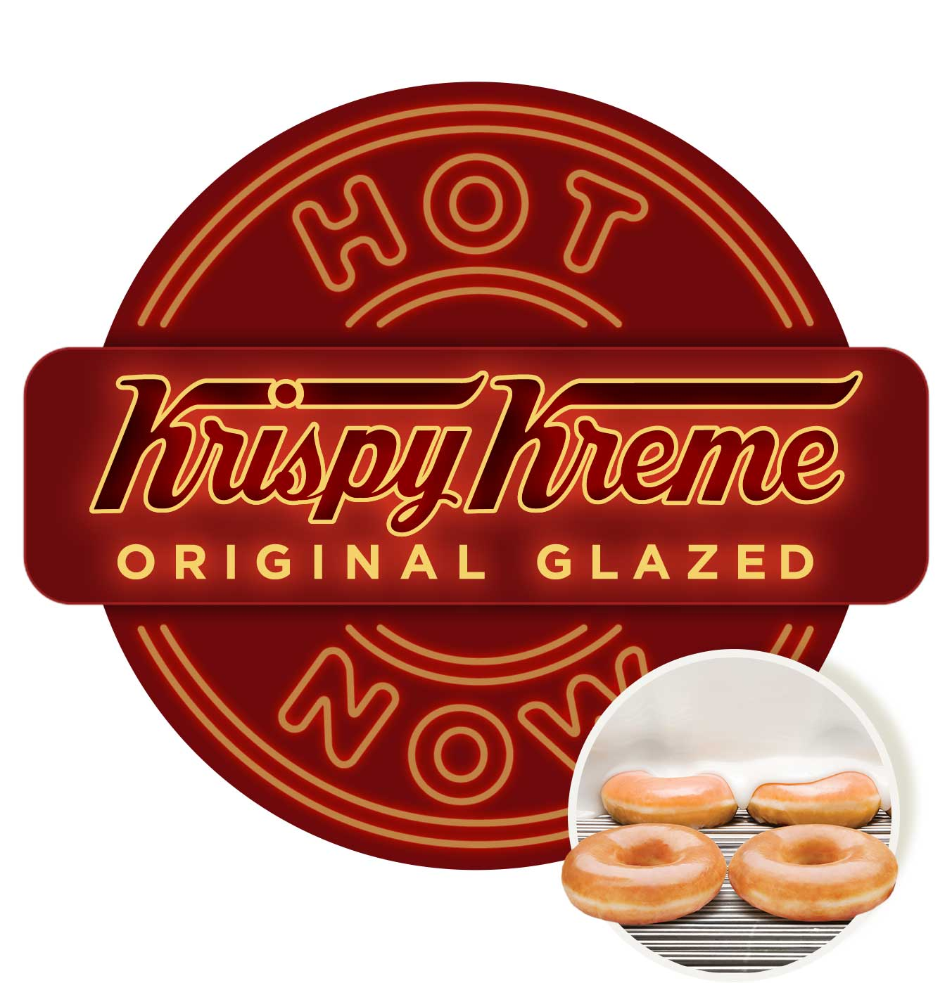 Krispy Kreme Original Glazed Hot Now