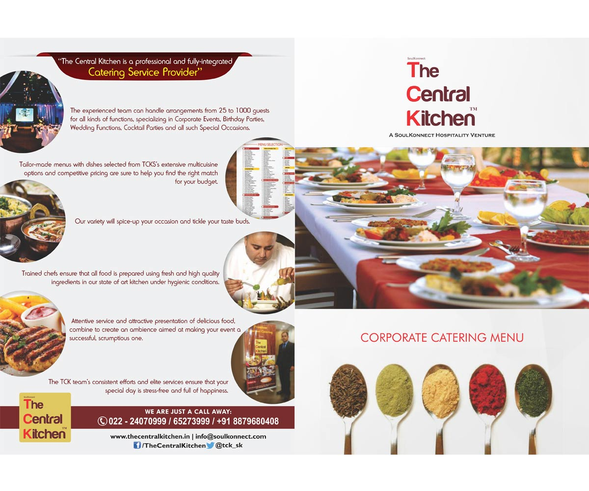 The Central Kitchen, Sion East, Mumbai   Outdoor Catering Menu