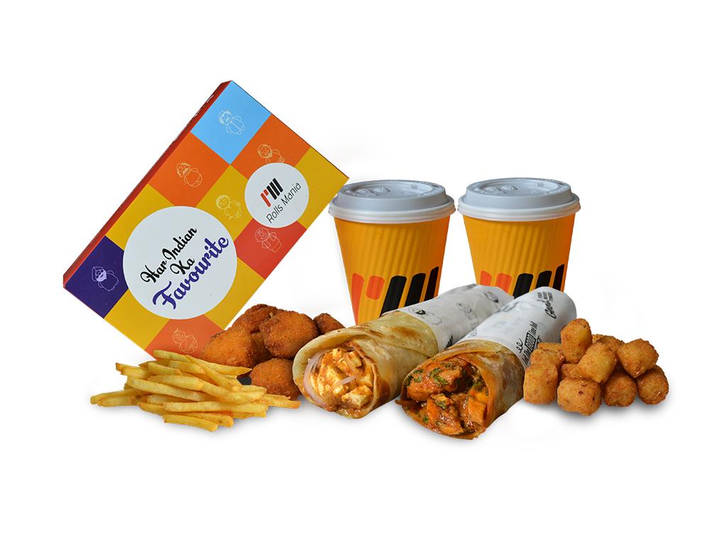 Chicken Mughlai Roll + Cheesy BBQ Chicken Roll Saver Mania image