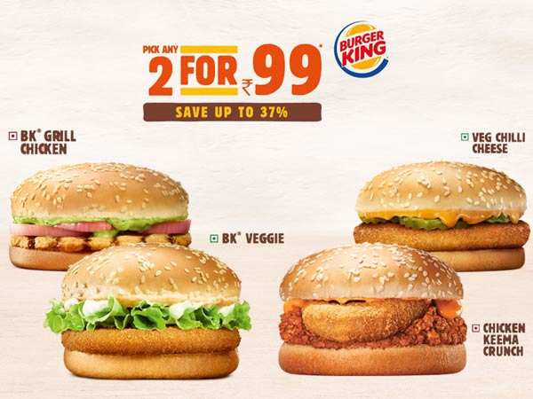 BurgerKing Buy Any 2 Burgers For Rs99 Only Upto 100 Cashback Mytokri Forum