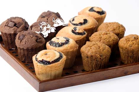 Blueberry Muffins, Chocolate Muffins, Carrot Muffins